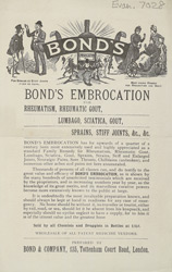 Advert for Bond's Embrocation, medicine